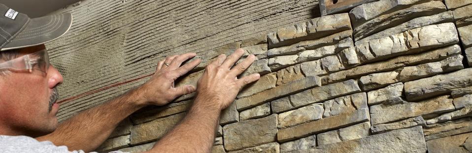 Stone veneer installation stone pro llc for How to install stone veneer over exterior brick